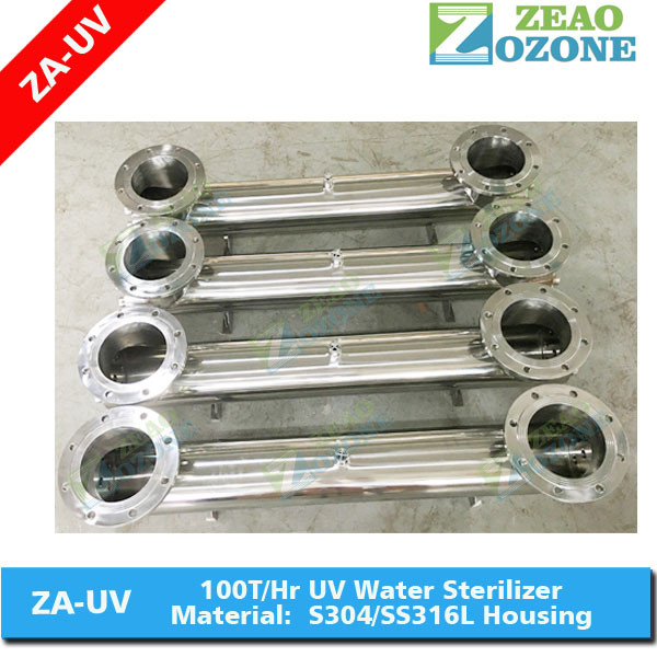 UV Lamp Water Disinfection System with Stainless Steel Chamber