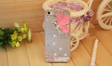 New Fashion 3D Bling Shiny Crystal Butterfly Fairy Angel Back Case Cover For Apple iPhone 5