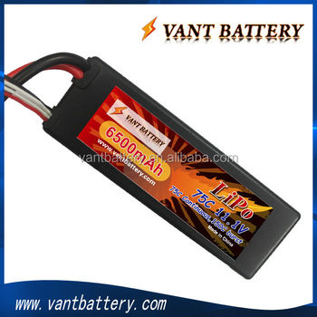 rc lipo battery 3S 11.1V 75C 6500mah for rc car