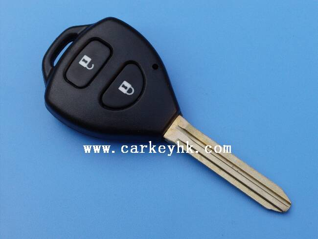 Hot sale Toyota Carola 2 buttons remote key 315Mhz, 4D67 chip with toyota vios remote key
