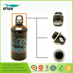 Wholesale good price best quality aluminum black water bottle with a panther logo