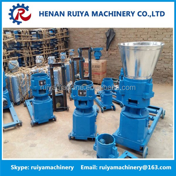 3kw flat die small animal feed pellet mill machine