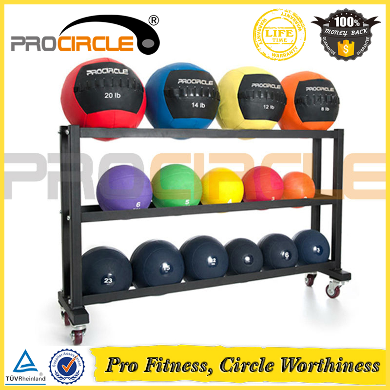 High Quality Medicine Ball Rack with Wheels