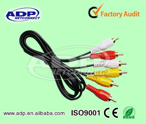 2017 Wholesale Amazon Low price ADP female usb to male rca cable with 2rca 3rca
