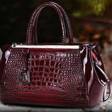 wenzhou leather with crocodile skin for handbag
