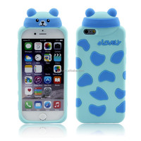 animal soft 3d silicon phone cover case for iphone 6 plus from china phone case maker