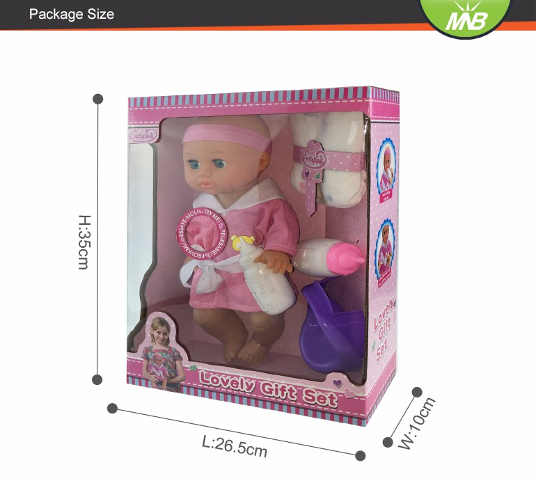 Drinking water pee pee no hair 14 inch full silicone baby dolls for sale
