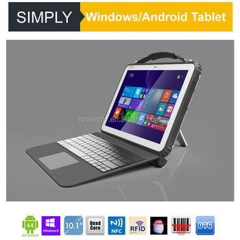Simply T12 intel cpu NFC 1D 2D reader 15000mAh battery RS232,RS485 connector keyboard for 12.1 inches android rugged tablet