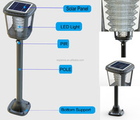 Solar Led Light Post Outdoor Garden Lamp,2W Motion Sensor Lamp