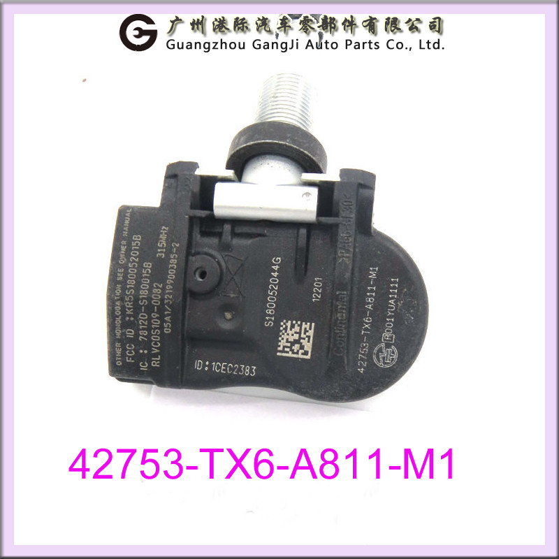 Guangdong online auto parts good quality TPMS 42753-TX6-A811-M1 car tire pressure