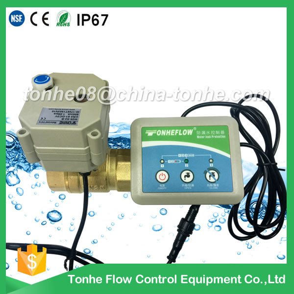 water leak detection detector alarm system with DN20 brass motorized valve