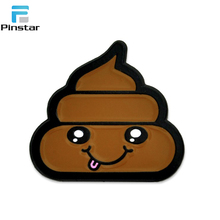 Cute Smiley Poo Emoji Soft Enamel Badges Supplies Metal Badge Clip