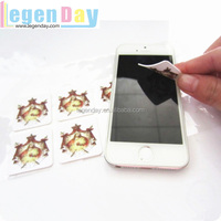Washable Eco-friendly custom design logo sticker phone/camera/TV silicone sticky mobile screen cleaner