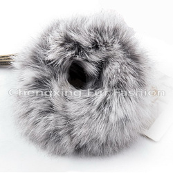 CX-E-01 Genuine Rabbit Fur Elastic Hair Band