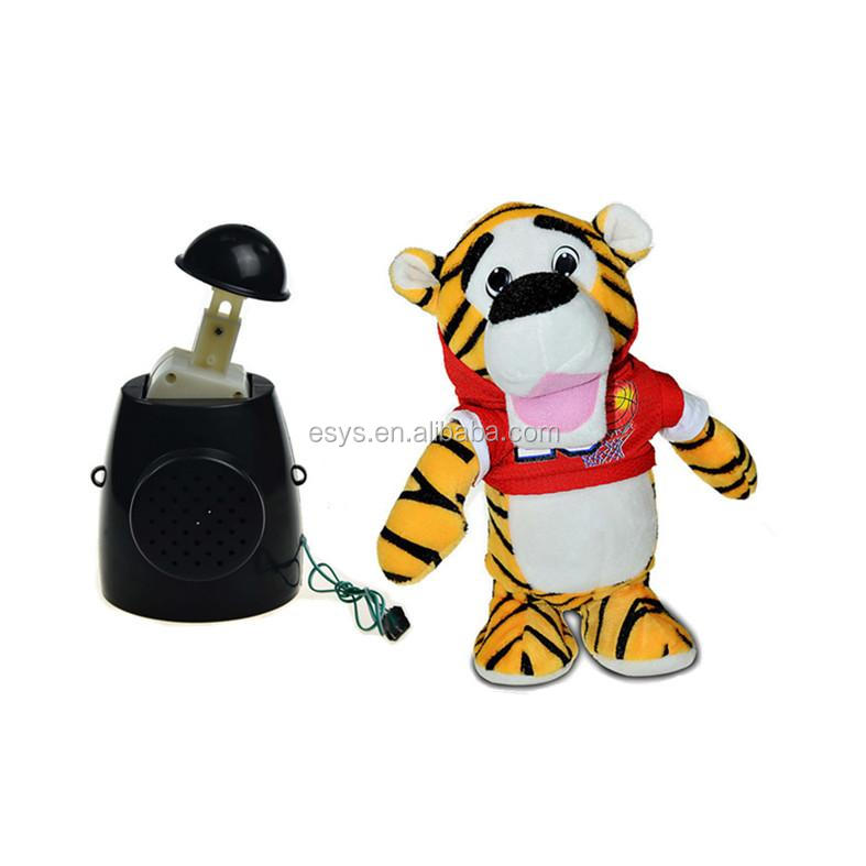 battery operated dancing plush animal toy for children