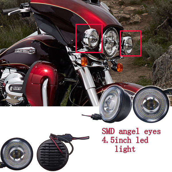 Widely used fine SMD led angel eyes headlight for motorcycle
