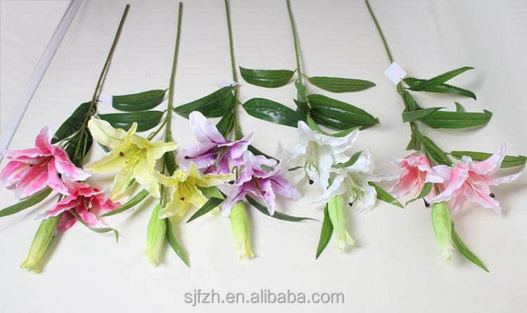Artificial Single Tiger Lily Flower with various color in factory price