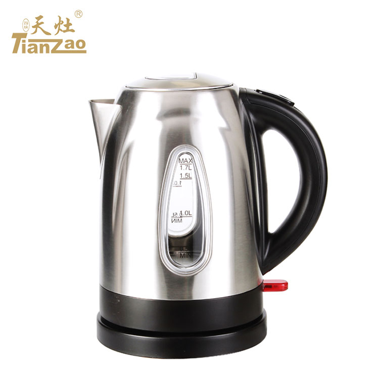 Made in China 1.7L kitchen <strong>appliances</strong> 304 stainless steel electric water kettle