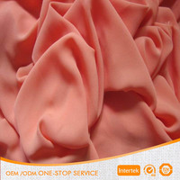 For dress germent high quality wholslae pure cheap plain chiffon mess fabric