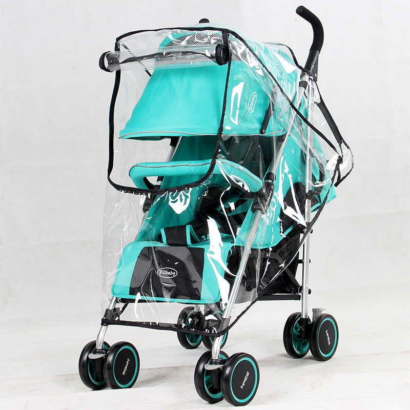 wholesale Universal PVC Plastic baby stroller Pram Car Seat Waterproof Umbrella rain cover Weather Shield Cover for Strollers