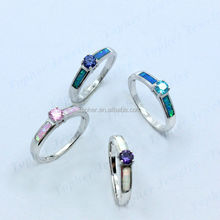 sterling silve gem opal stone ring