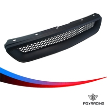 PQY RACING-Racing Black Abs Type R Grills Grille for 1996-1998 Honda PQY-ZW103