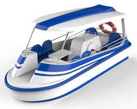 salt water fiberglass paddle electric boat for sale