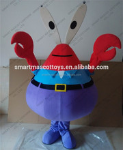 Hot Sale adult movie/cartoon character mascot costume Fancy design crab costume for adult crab costume
