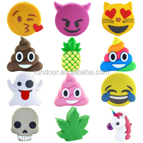 mini emoji beautiful cartoon power bank new 2600mah external battery portable mobile phone charger for iphone
