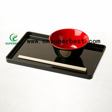 OEM/ODM acrylic serving tray/plastic rectangle serving tray for restaurant