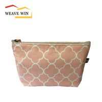 New arrive canvas lady makeup bag,cosmetic bag