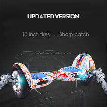 10 inch kids scooter two wheel smart drifting balance electric scooter with bluetooth and sounds