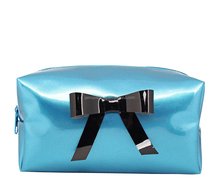 customized waterproof portable fashion PU leather cosmetic handlebag