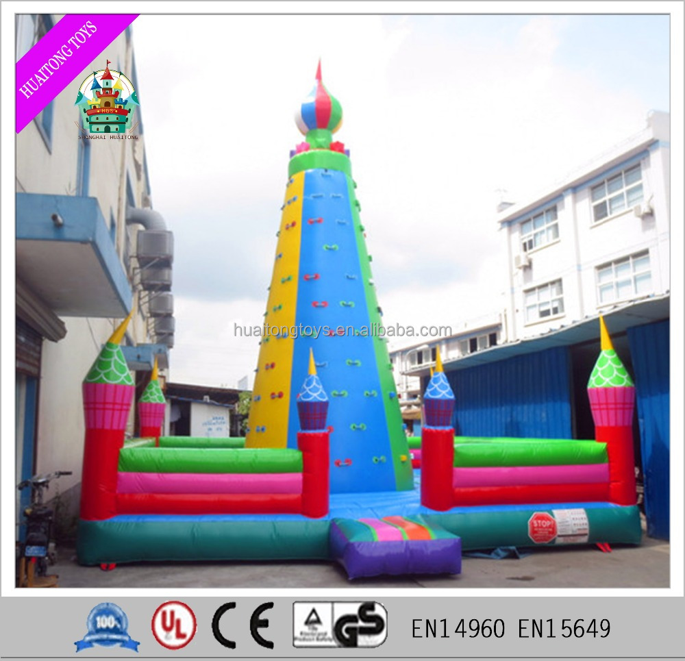 multicolor high quality inflatable mobile rock climbing wall for promotion