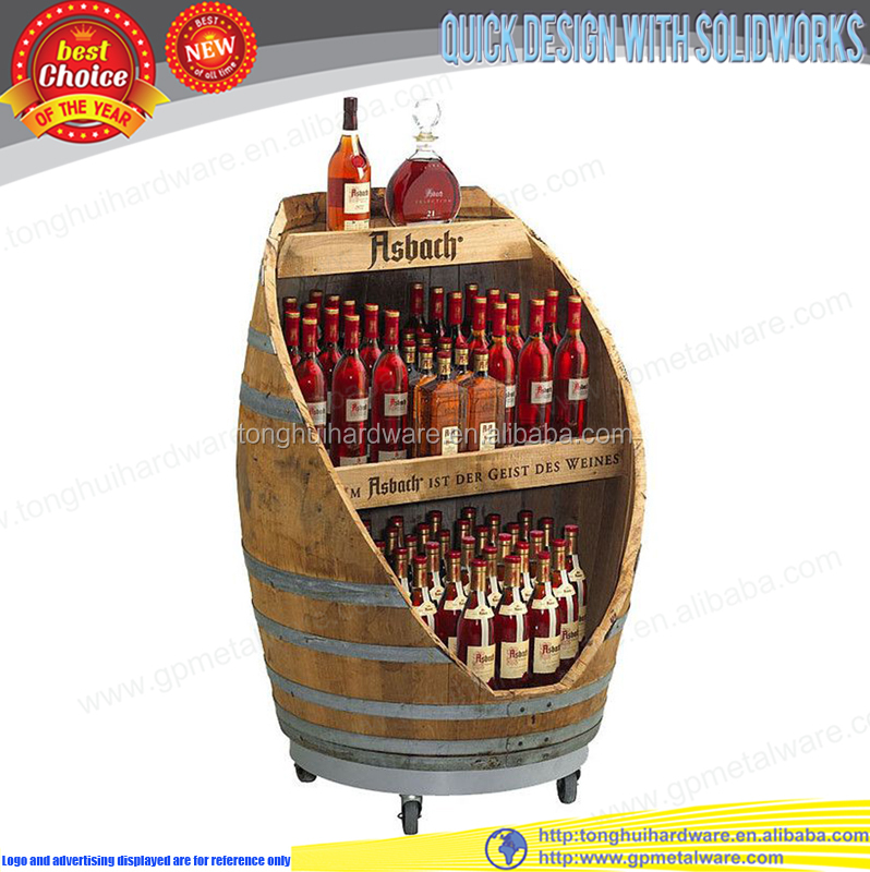 wooden wine rack wall floor standing