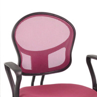 Pink Office/Computer Chair with arms with fabric pads(stocked at Germany)