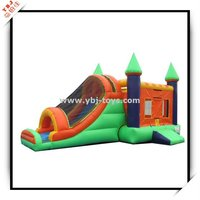 China 2015 new design inflatable castle and slide with net