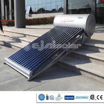 Inclined Housetop Evacuated Tube Solar Heater With Special Bracket/Frame
