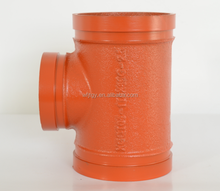 approved cast iron pipe fitting of grooved reducing tee