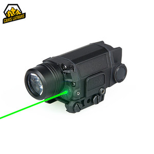 Aluminum led hunting military tactical green laser flashlight combo