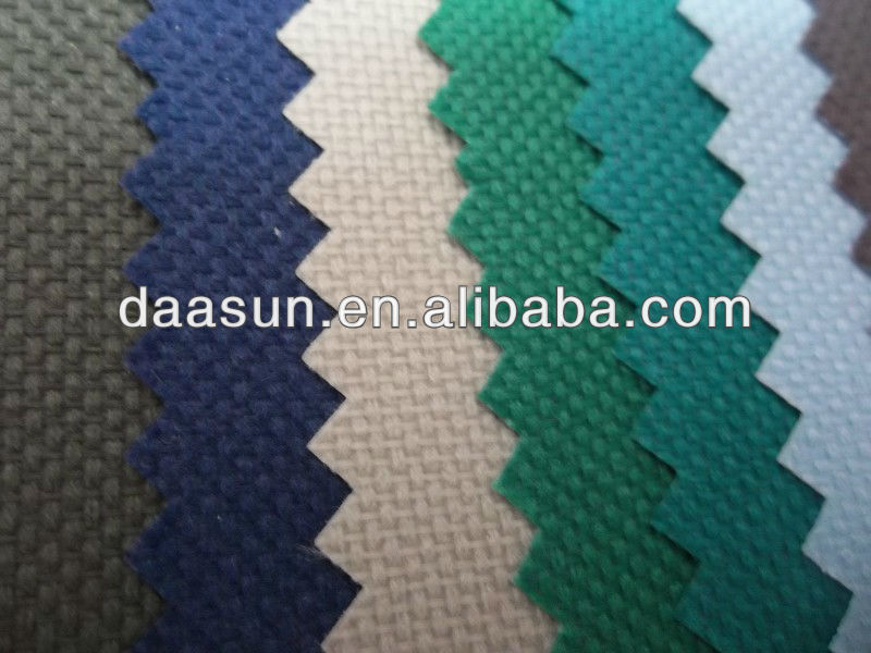 600D polyester oxford fabric with PU/PVC coated, pvc coated fabric