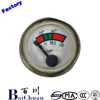 Portable Round Fire Extinguisher Pressure Gauge 23mm miniature bourdon tube pressure gauges 111.12.27 Made In China