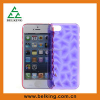 PC hard case, rhombus diamond for iPhone5 case, for iPhone 5 3D diamond case