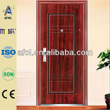 Afol gorgeous red steel security door