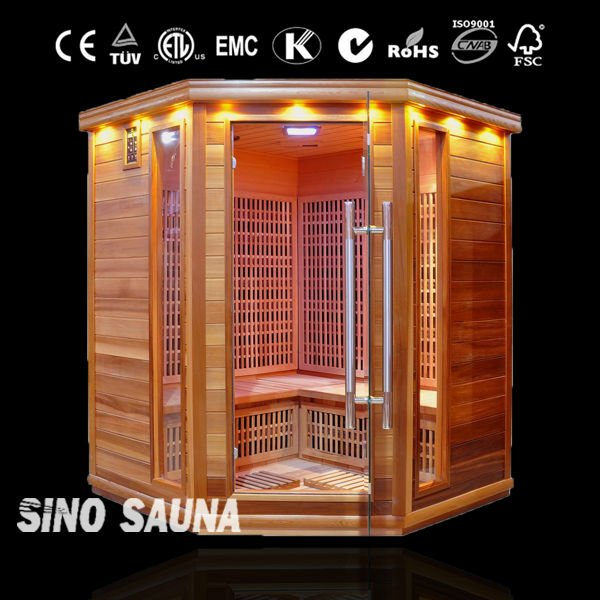 2016 Swedish 4-6 people Carbon Far Infrared Tourmaline Sauna Room (CE/ISO/FSC/TUV)