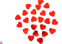 wedding and festival antiflaming red heart party confetti
