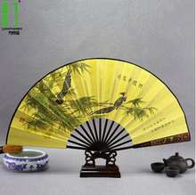 Large decorative chinese fans, hand fan bamboo hand fan painted paper hand fan, gold hand fan