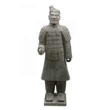 Antique stone craving sculpture chinese warriors statue for sale