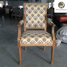 Family decoration luxury Fabric square back dining French chair,French Louis XV Chair