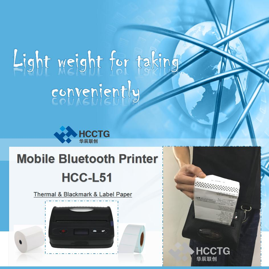 "HCC-L51 LCD Buzzer Ponsel Android 4 ""112mm Bluetooth Thermal Label Printer"